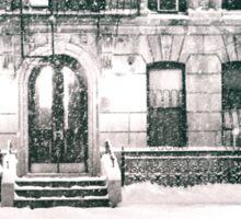 Snow at Night - New York City Sticker