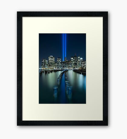 Tribute In Light Framed Print