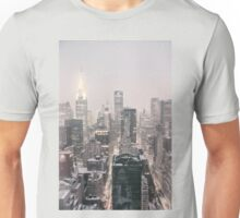 Snow - Chrysler Building - New York City - Dawn Unisex T-Shirt