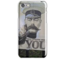 """Lord Kitchener Poster """"Your Country Needs You"""" iPhone Case/Skin"""