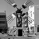 Old Windmill in Corralejo by gazmercer