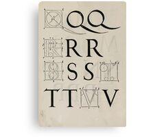 Measurement With Compass Line Leveling Albrecht Dürer or Durer 1525 0134 Alphabet Letters Calligraphy Font Canvas Print