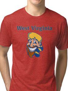 West Virginia Happy Mountaineer Tri-blend T-Shirt