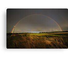 Double Rainbow on Harlow Common Canvas Print