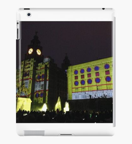 Yellow Submarine Projection on Liver Buildings iPad Case/Skin