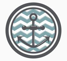 Chevron Anchor Smile Illusion Baby Tee
