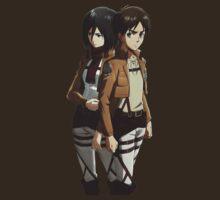 attack on titan eren yeager mikasa ackerman anime manga shirt by ToDum2Lov3