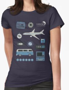 Lost blue Womens Fitted T-Shirt