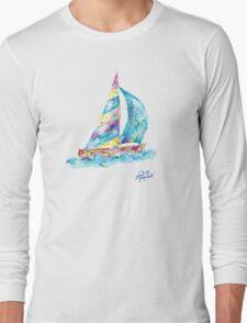 Sailboat no splots by Jan Marvin Long Sleeve T-Shirt