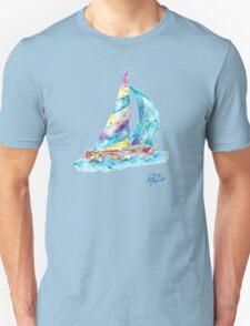 Sailboat no splots by Jan Marvin Unisex T-Shirt