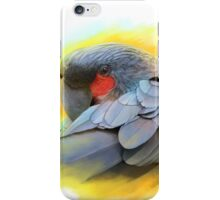 Black Palm Cockatoo realistic painting iPhone Case/Skin