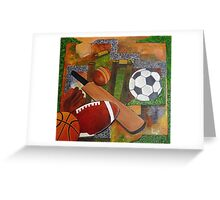 sports collage Greeting Card