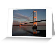 Severn Bridge, sunset Greeting Card