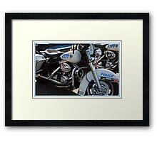 POLICE MOTORCYCLE Framed Print