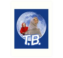 Tom Brady's Courtroom Sketch E.T. Parody Art Print
