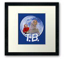 Tom Brady's Courtroom Sketch E.T. Parody Framed Print