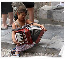 Street Performer, Rhodes, Greece Poster