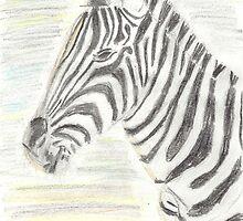 zebra - coloured pencil by rullo