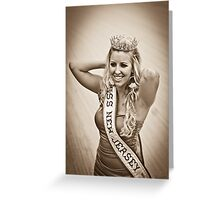 Miss NJ Greeting Card