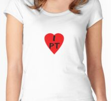 I Love Portugal - Country Code PT T-Shirt & Sticker Women's Fitted Scoop T-Shirt