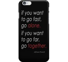 Afrikkan Proverb iPhone Case/Skin