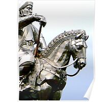 Genghis Khan Equestrian Statue Poster