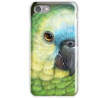 Blue fronted amazon parrot realistic painting iPhone Case/Skin