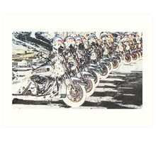 POLICE RIDE ON Art Print