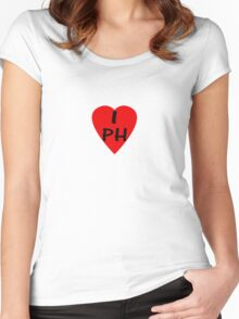 I Love Philippines - Country Code PH T-Shirt & Sticker Women's Fitted Scoop T-Shirt