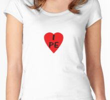 Peru I Love Country Code PE T-Shirt & Sticker Women's Fitted Scoop T-Shirt