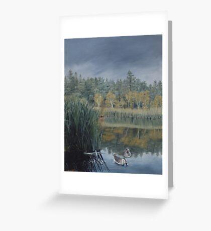Storm approaching Lynx Lake - Prescott Arizona Greeting Card