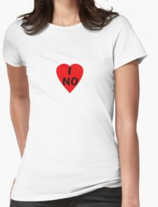 I Love Norway ~ Country Code NO T-Shirt & Sticker Womens Fitted T-Shirt