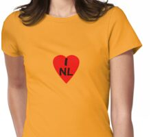 I Love Netherlands - Country Code NL T-Shirt & Sticker Womens Fitted T-Shirt