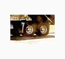 Trucks - Rear Wheels & Axel Detail of a Dump Truck with Dust Flying Unisex T-Shirt