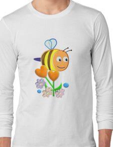 Cute Bumble Bee Long Sleeve T-Shirt
