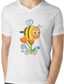 Cute Bumble Bee Mens V-Neck T-Shirt