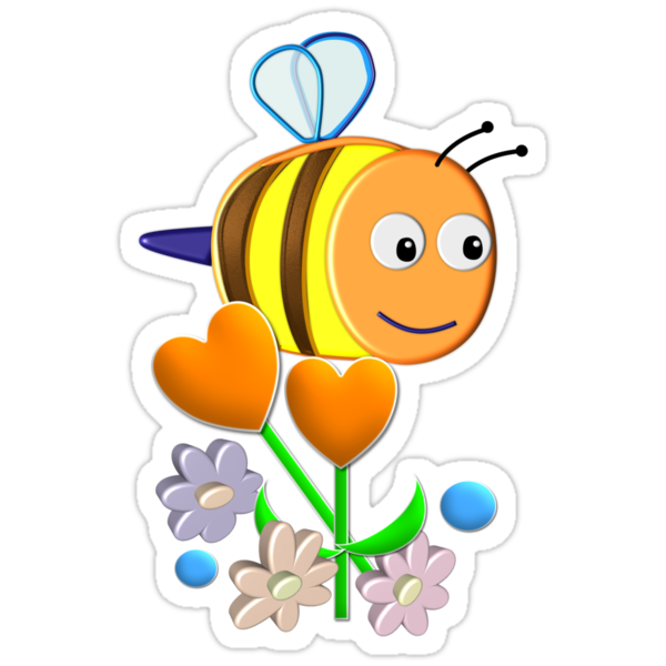 Cute Bumble Bee by walstraasart