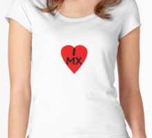 I Love Mexico - Country Code MX T-Shirt & Sticker Women's Fitted Scoop T-Shirt