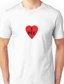 I Love Mexico - Country Code MX T-Shirt & Sticker Unisex T-Shirt