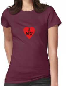 I Love Mexico - Country Code MX T-Shirt & Sticker Womens Fitted T-Shirt