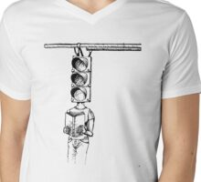 Traffic of Words Mens V-Neck T-Shirt