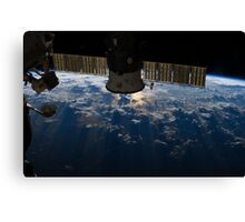 ISS over the Atlantic, 2013 Canvas Print