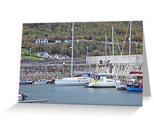 Marina in Glenarm North Antrim Coast Greeting Card