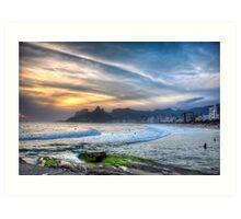 Copacabana Sunset Art Print