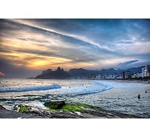 Copacabana Sunset Photographic Print