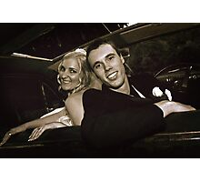 Inside the Wedding Limo Photographic Print