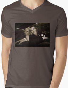Inside the Wedding Limo Mens V-Neck T-Shirt