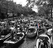 Gridlock in Amsterdam by Mark Bird