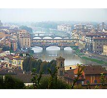 Ponte Vecchio, River Arno, Florence Photographic Print