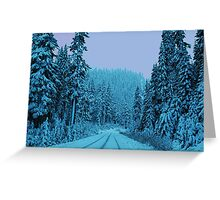 Scenic Snowy Drive Greeting Card